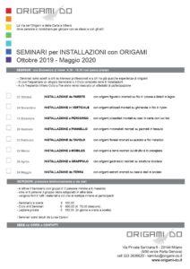Calendario Maggio 2020.Calendario Seminari Installazioni 2019 2020 Origami Do